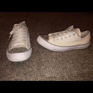 White Glitter Toe Converse